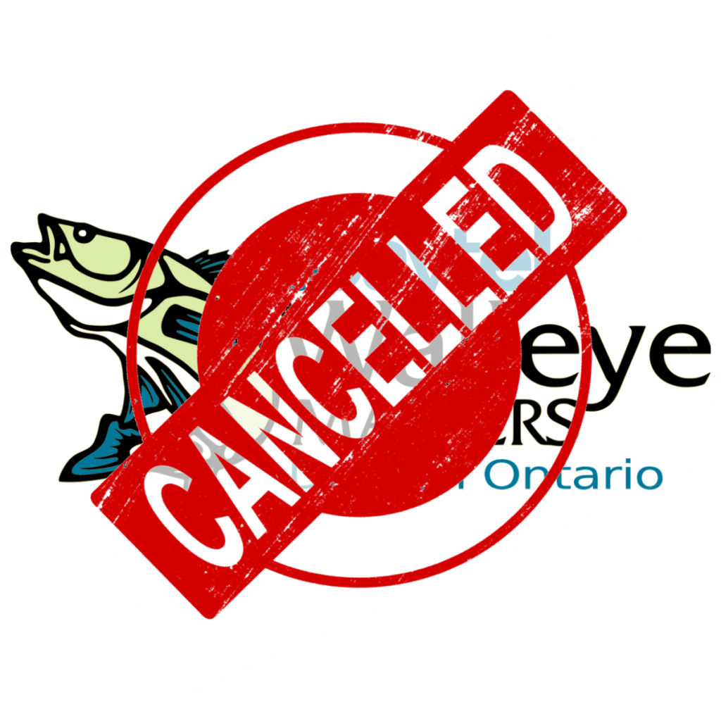 Walleye Masters Cancelled